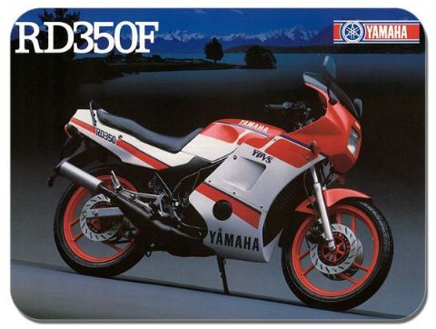 Vintage RD350 F YPVS Advert  Mouse Mat Motorcycle Motorbike Mouse pad Bike Gift